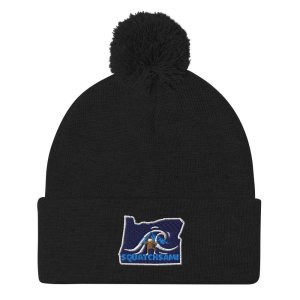 Navy Oregon State Bigfoot Beanie