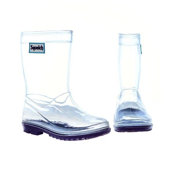 Squelch Wellies Transparent Boots