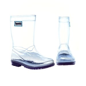 Squelch Wellies Transparent Boots