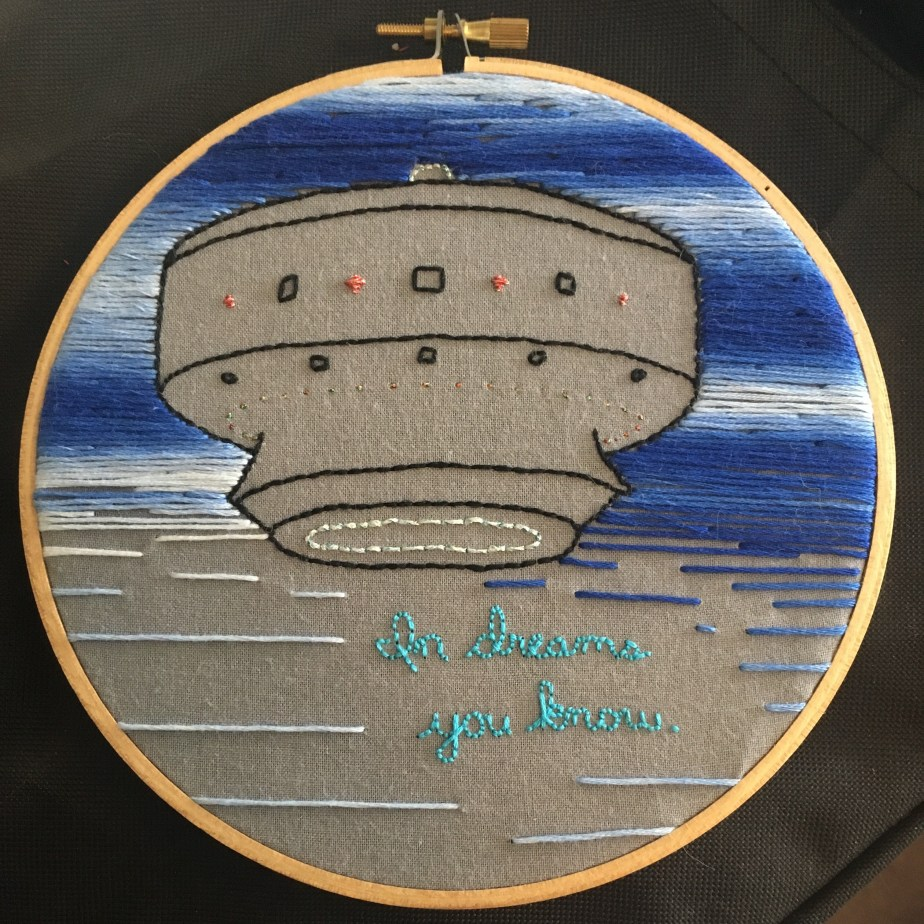 hand_embroidered_scene_of_Gulf_Breeze_UFO