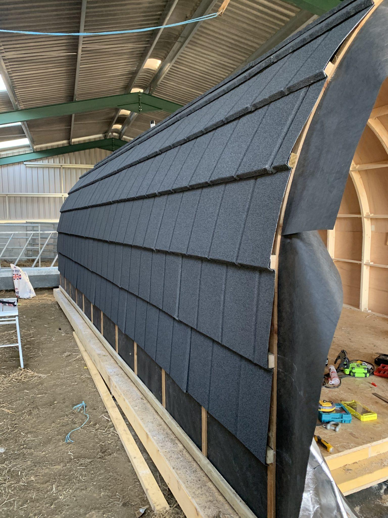 standard glamping pod frame kit build