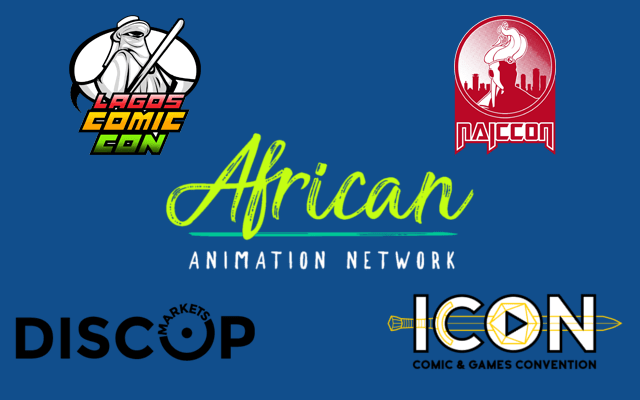 Poster of DISCOMICS Alliance, with Lagos Comic Con, African Animation Network, DISCOP, ICON, NAICCON