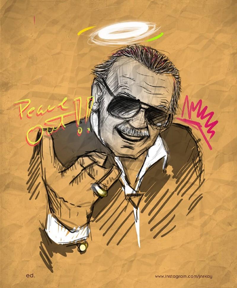 Stan Lee tribute art by ed