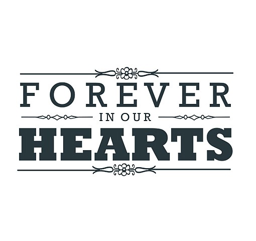 Forever In Our Hearts Word Art 1