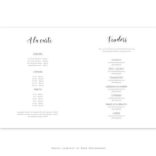 Blush Wedding Photography Marketing Magazine
