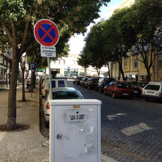 No parking sign in Lisbon