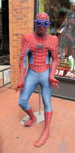 The Rocket Fizz Spiderman wears croshades.