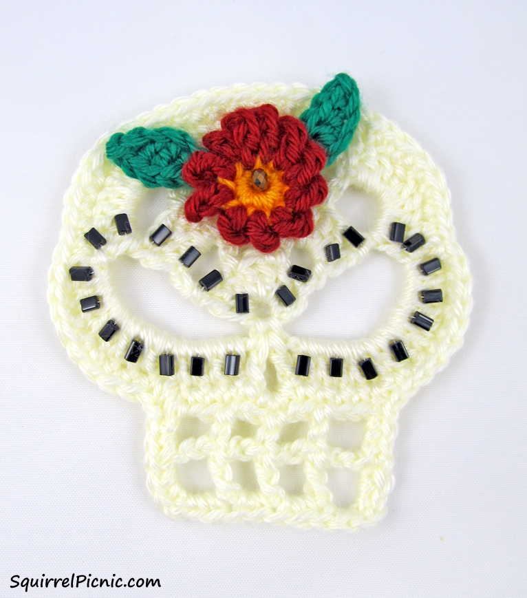 Sugar Candy Skull Crochet Pattern  Squirrel Picnic