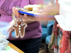 Yay! She chose a gingerbread man!
