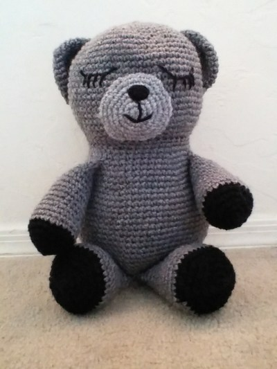 Sleepy Bear Crochet Pattern | Squirrel Picnic