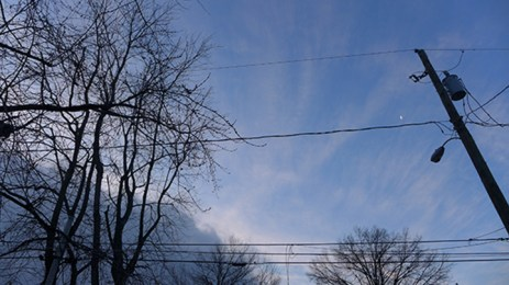 Moonrise over the electrical grid