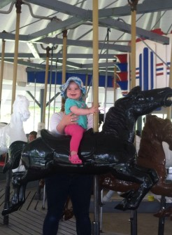 Fee on the Carousel at Midway
