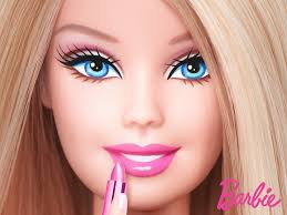 barbie with lipstick