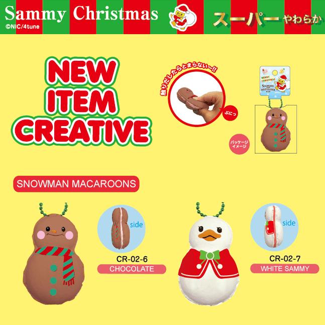 New Item Creative – Sammy Christmas Snowman Macarons