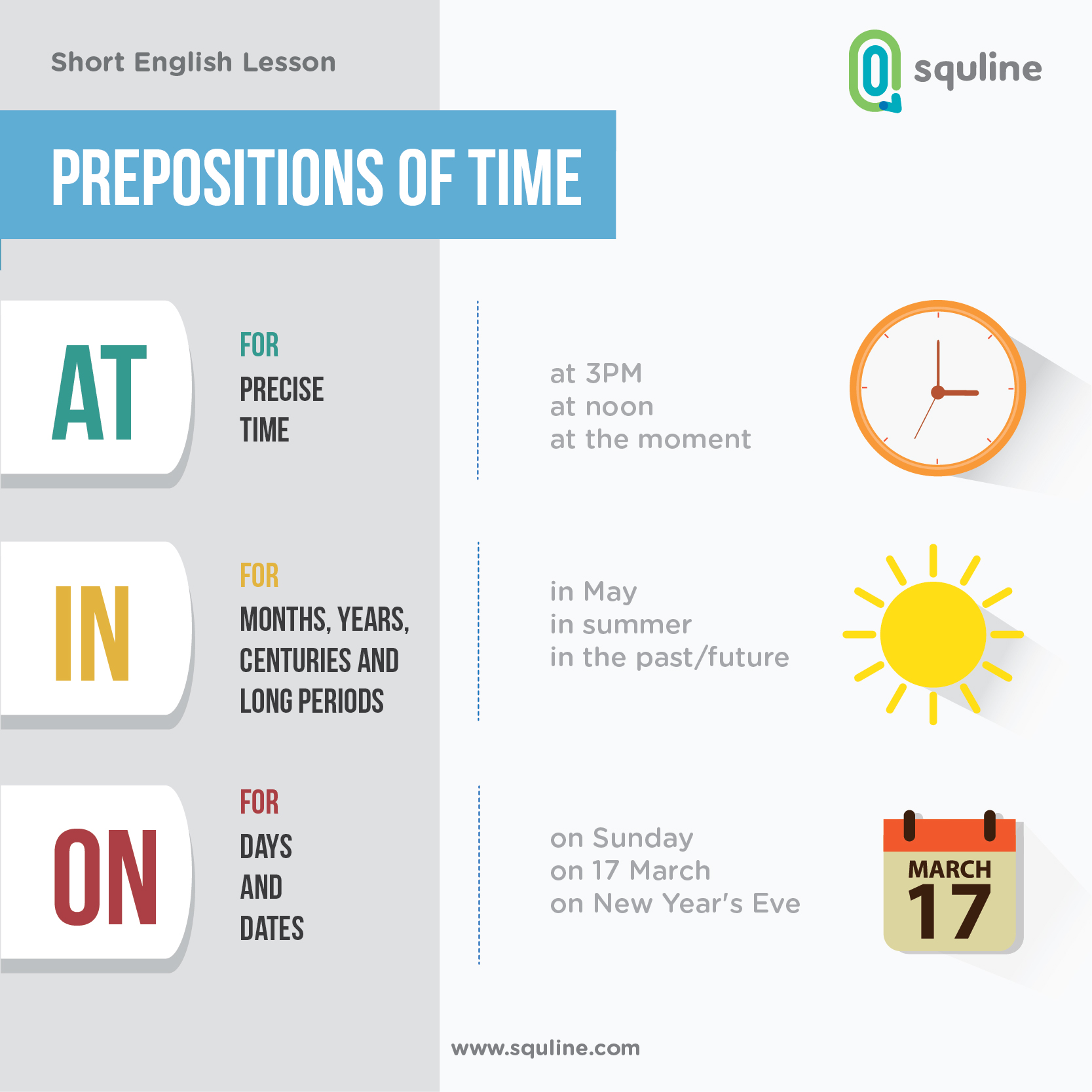English Short Lesson Prepositions Of Time