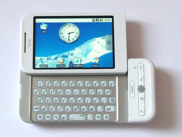 HTC Dream, the first Android smartphone.
