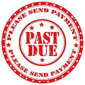 clipart of payment due stamp k6202761