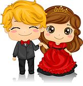 clipart of prom queen and king