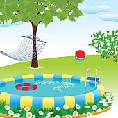 Stock Illustration of Backyard Pool jptm15 - Search ...