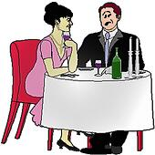 stock illustration of man and woman