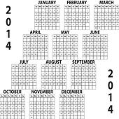 Clipart of CALENDAR PLANNER MONTH NOVEMBER 2014 ON