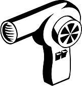 clip art of hair dryer appliance