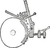 Stock Image of vintage single cylinder harley davidson