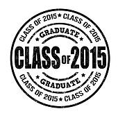 Clip Art of Class of 2015 College High School Graduation