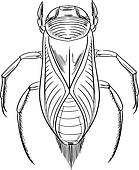 clipart of water boatman k17795401