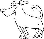 Clipart of neapolitan mastiff dog cartoon for coloring