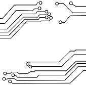 Clip Art of circuit board background texture k12985579