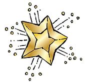 shining star clip art and stock
