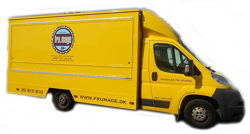 Varevogn folieindpakning med gul folie & logo