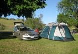 The Treasurer's tent ('Cowie Manor'), Bethanga 2012
