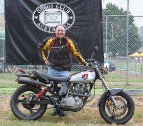 Nick van de Zand and XT500, Bethanga 2011