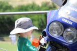 XTZ750 and young enthusiast, Bethanga 2015