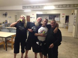 Charlie, Andy, Jeff & Manny, Bethanga 2015