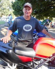 Mark Cumberland and his TRX850, Bethanga 2015
