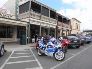 Beechworth Bakery, heading home from the 2015 Rally