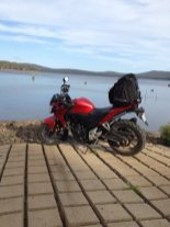 Gary & Brendan went off-road to Tooms Lake.