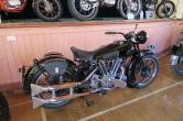 A BMCT club member bought the bike from the UK for $600,000 about a year ago. The original owner bought it new in 1938. He went to war in 1939 and couldn't ride it anymore when he got back. It sat untouched in pieces for many years before being snapped up by a Tasmanian buyer.