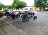 Two Darmahs and a Bonneville, Beechworth 2017.