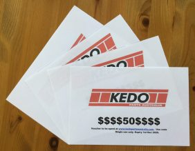 Great raffle prizes from Kedo Parts Australia!