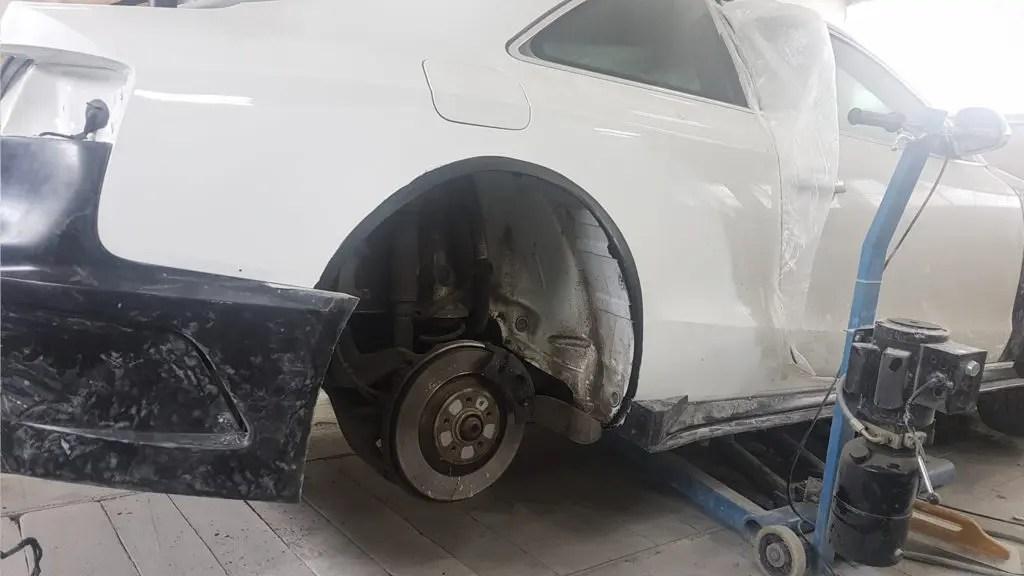 Audi S5 wide body kit SR66 - work in progress