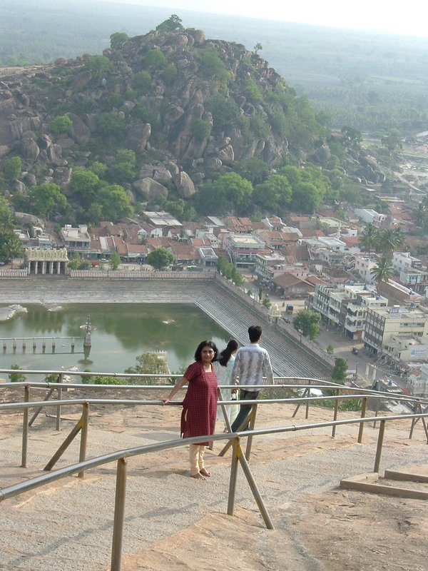 A steep walk up the Mahabali Hills.