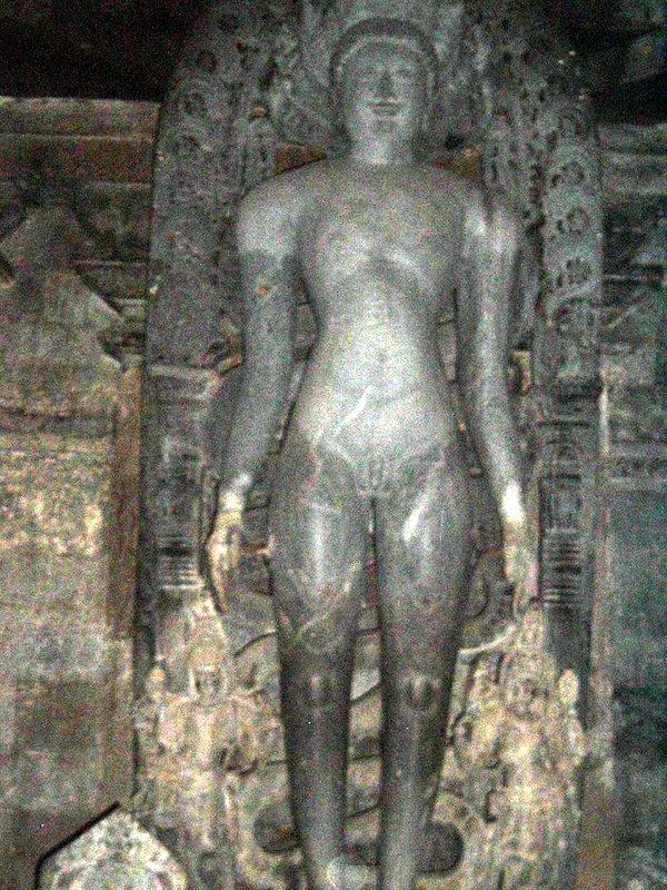 One of the Theerthankara statue in Hassan,Karnataka