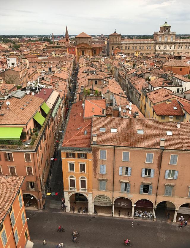 Il panorama più bello di Modena si vede dalla Ghirlandina