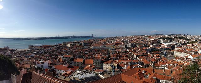Cosa fotografare a Lisbona? Posizione 3: il panorama dal Castelo de Sao Jorge