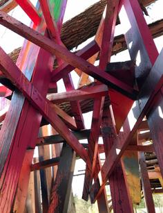 Arte Sella è un parco famoso per le sue opere di land art come Trabocco di montagna