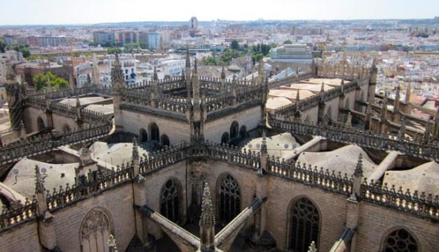 Dalla Giralda si può godere la vista più bella di Siviglia